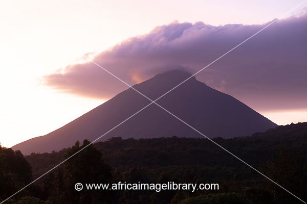 Mt. Muhavura (4,127 meters), volcano in Mgahinga Gorilla National Park, Uganda
