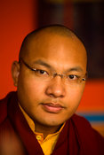 India - Sarnath - The Karmapa Lama at the Vajra Vidya Institute for Buddhist studies