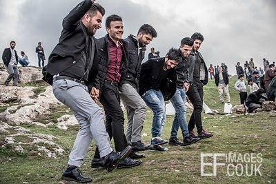 Happy Kurdish Dudes Having A Bit Of Dance