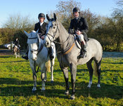Jockies Shane Kelly and Tom Queally at the meet at Owston 29/11
