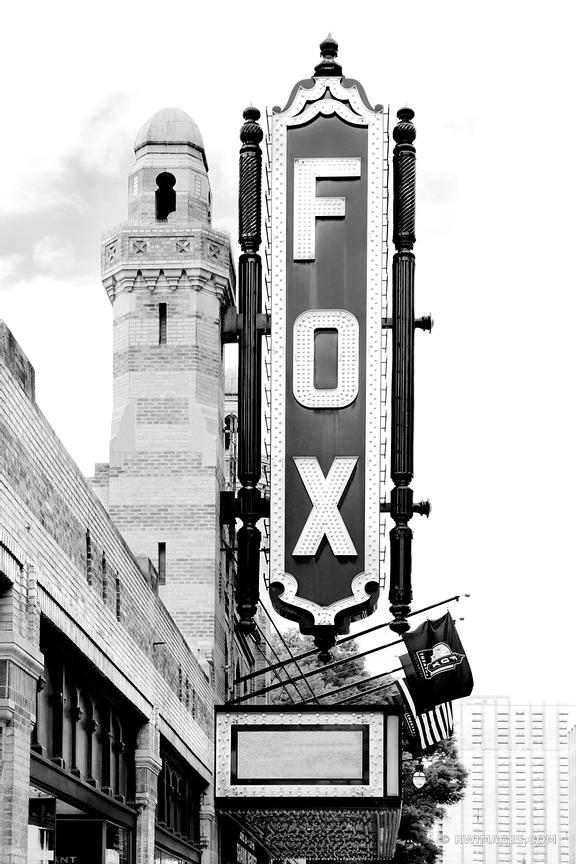 FOX THEATRE ATLANTA GEORGIA BLACK AND WHITE VERTICAL