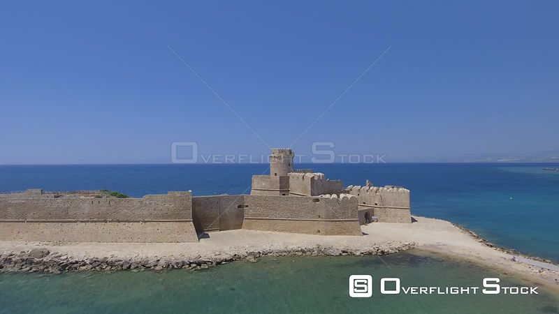 Fortezza Aragonese in Isola di Capo Rizzuto on a beautiful summer day, Italy