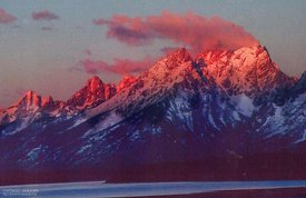 Tetons Before sunrise, Alpine light