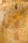 ancient painting in Tomb of Si Amun, mountain of the dead, Siwa oasis, the Great Sand Sea, Western desert, Egypt