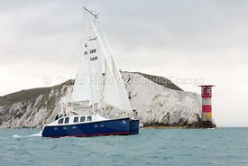 Ra, GBR765M, Moxley 12 catamaran, Round the Island Race 2017, 20170701047