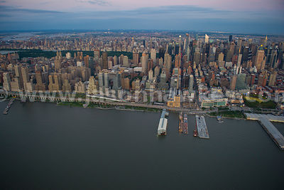 Upper West SIde and Midtown, Manhattan, New York City at dusk