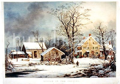 Winter in the country a cold morning Currier and Ives ca 1863