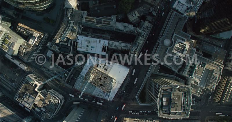 London Aerial Footage of Heron Tower and 20 Fenchurch Street