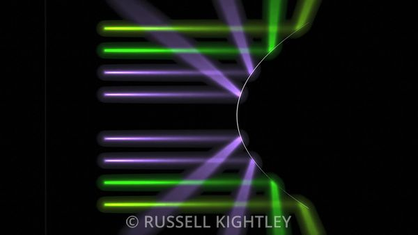 CONVEX-MIRROR-varying-curvature-coloured-lights-FHD-Russell-Kightley