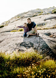 Danish father and daughter on Bornholm 2