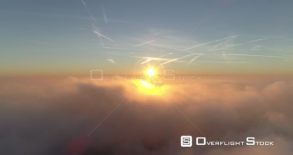 Drone Video Feldberg Germany on a Misty Morning Sunrise