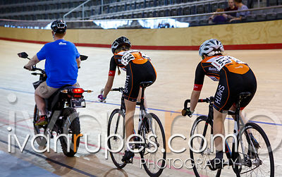 U17 Women Keirin 7-12 Final, Ontario Track Championships Day 3, April 12, 2015