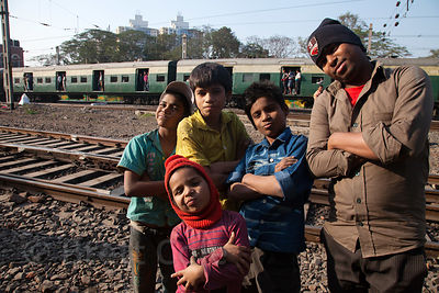 Boys at the Child In Need Institute (CINI, cinindia.org) drop-in shelter at Sealdah Railway Station, Kolkata, India