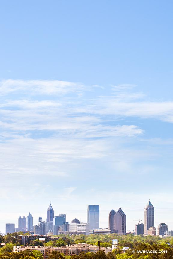 DOWNTOWN ATLANTA SKYLINE COLOR VERTICAL