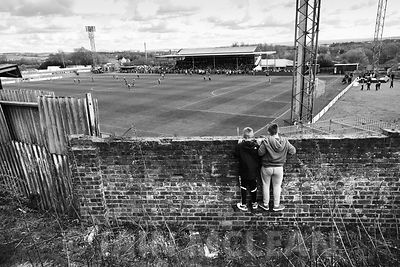 Albion Rovers..Cliftonhill Stadium, Coatbridge..25.4.15.Albion 1-1 Arbroath.A full house at Cliftonhill where Rovers were pre...