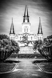 New Orleans St. Louis Cathedral Black and White Picture