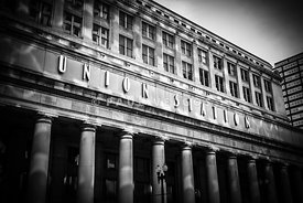 Chicago Union Station in Black and White