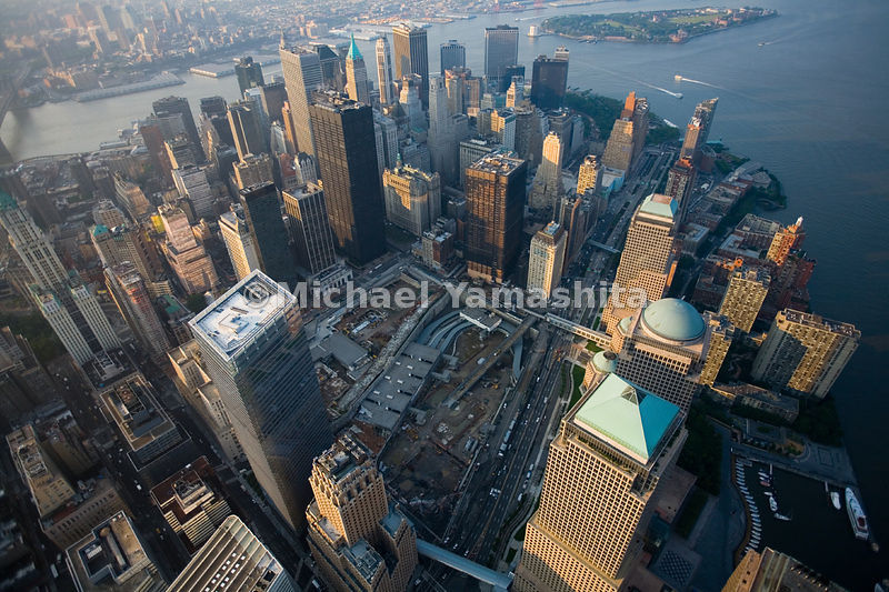 The gaping 16-acre space left after the destruction of the World Trade Center is a visible sign of dramatic impact of the ter...