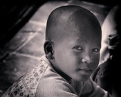 Young Child at the Angkor Wat Monks School  - 1""