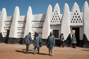 Wa-Na's palace built in the style of the ancient mud-and-stick mosques of the region, Wa, Ghana