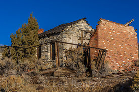 Ruins of Old Building in Belmont, Nevada