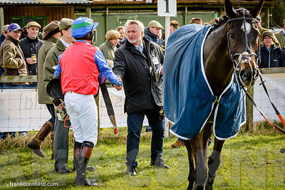 Jamie, Alexander shaking hands with Ronnie Bartlett after winning The Bruce Farms Northern Point-to-Point Members Race at Bal...