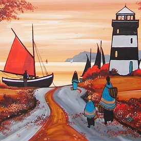 The Red Sail &  Lighthouse