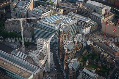 Aerial view of apartments in Holland Street, London