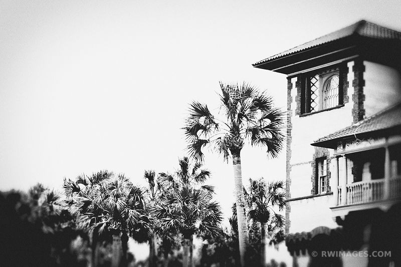 SAINT AUGUSTINE FLORIDA BLACK AND WHITE