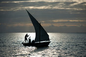 Traditional dhow, Ibo island, Mozambique