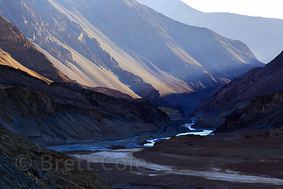 The Zanskar River near its confluence with the Indus at Nimmu, Ladakh, India