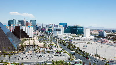 Daytime View of the Las Vegas Strip from Above
