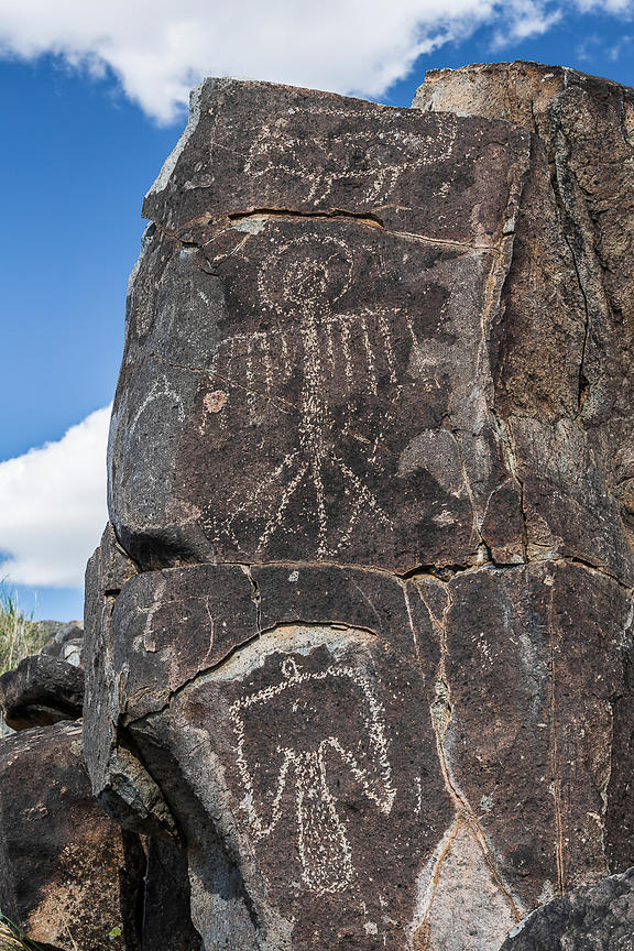 Exquisite Rock Art Depicting Bird at Three Rivers Petroglyph Site