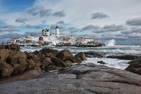 Stormy Nubble Lighthouse