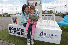 Donate a Library at Spanish Arch in Galway..Photograph by Aengus McMahon.. .. .......