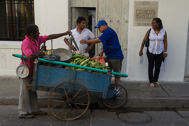 Fruits sellers Cartagena.
