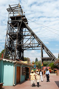 Mine shaft in Gold Reef City, Johannesburg, South Africa