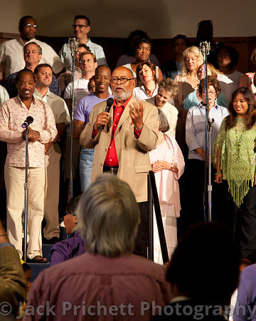 Rev Cecil Williams preaching at San Francisco's Glide Memorial, 2012