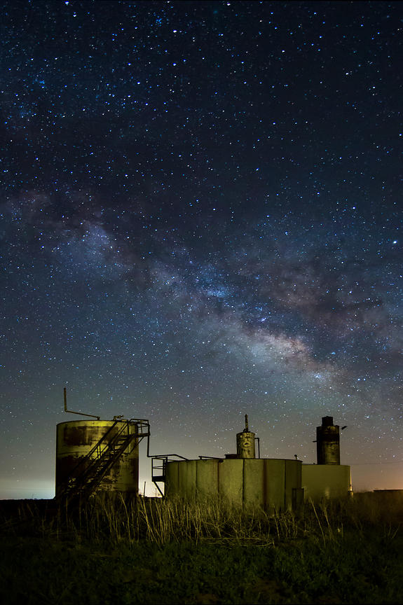 Milky Way and Oil Tanks