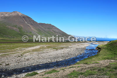 Spectacular glacial scenery above Borg on Road 94, Austurland (Eastern Region, East Iceland), Iceland