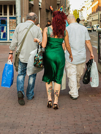 Tattoo dame en haar dragers