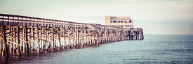 Newport Beach California Pier Vintage Panorama Picture