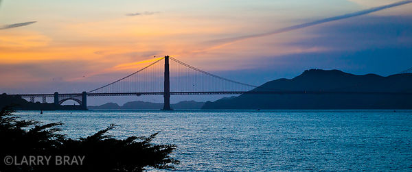 Golden gate bridge at sunset in San Francisco, California, USA