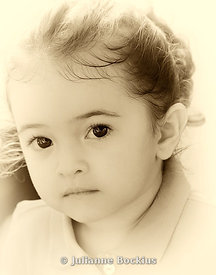 Young Girl in Sepia