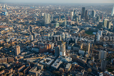 Aerial view of Hoxton, London