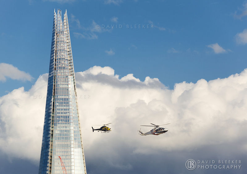 The Shard - Filming Helicopters