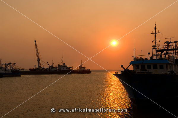 Mozambique, Beira, Harbour.  Beira is the Mozambique's most important port.