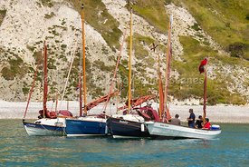 Drascombe rally in Lulworth Cove, 201707070173