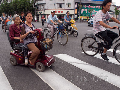 all kinds of wheels on the Shanghai roads