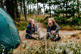 Tiw girls camping in Denmark 9
